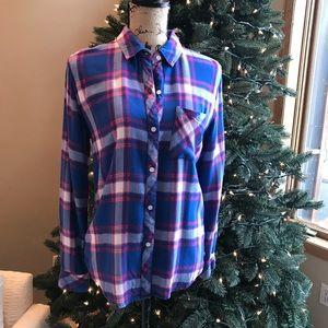 Rails Hunter Plaid Button-Front Shirt Small
